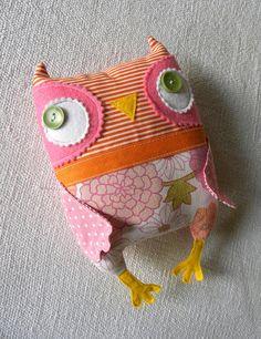Pink/Orange Owlie | Flickr - Photo Sharing!