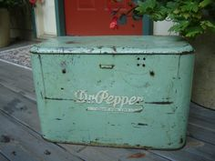 Dr. Pepper Cooler Retro 1940s Cool Green Great for Storage. $45.00, via Etsy.