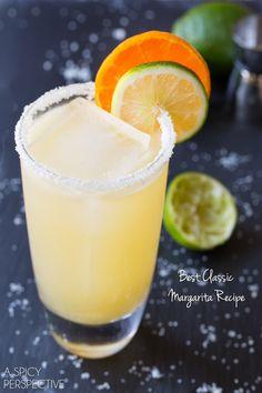 Margaritas (18 oz Tequila Blanco 18 oz fresh squeezed lime juice 9 oz Grande Mariner 8 oz simple syrup 3 oz orange juice 3 oz Triple Sec)