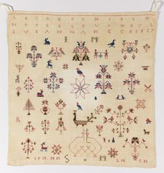 Sampler (USA), 1827 | Objects | Collection of Cooper Hewitt, Smithsonian Design Museum