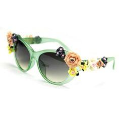 055485842adf Amazon.com  Weixinbuy Women s Girls Sunglasses Retro Summer Travel Beach UV  Glasses  Sports   Outdoors