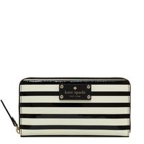 Authentic Kate Spade Striped Flicker Lacey Wallet NWT Shipping Included $130.00