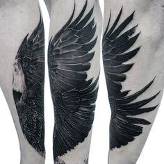 Male Tattoo Of Eagle Wings On Inner Forearm