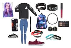 """""""Untitled #89"""" by alexisdance0420 on Polyvore featuring Topshop, Vans, claire's, Boohoo, NARS Cosmetics and Urban Decay"""