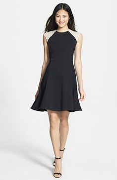 DKNYC Cap Sleeve Fit & Flare Dress available at #Nordstrom