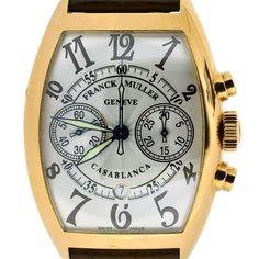 Franck Muller 18K Rose Gold Gents Casablanca Chrono Watch 8880 CC CD Authentic #FranckMuller #LuxuryDressStyles