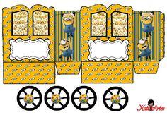 Minions: Princess Carriage Shaped Free Printable Box.