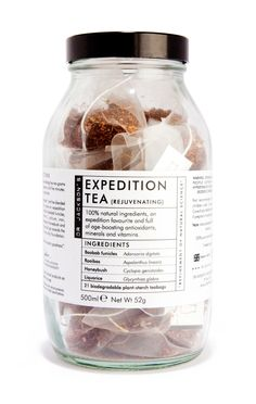 Dr Jackson's Herbal Tea Expedition Rejuvenating blend. (bagged) Developed as an alternative to caffeine, Dr Jackson's Expedition Tea is formulated using natural ingredients full of anti-aging and immu