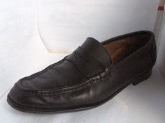 BRUNO MAGLI MENS BLACK LEATHER PENNY LOAFERS SIZE 11 MEDIUM RUSSELLB SHOES #BrunoMagli #LoafersSlipOns