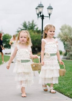 Celery and Ivory Lace Tutu Dress for Girls