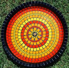 Beautiful and creative mosaics by Laura Pattison - Ego - AlterEgo Mosaic Crafts, Mosaic Projects, Mosaic Art, Mosaic Glass, Mosaic Ideas, Craft Projects, Craft Ideas, Mandala Pattern, Mosaic Patterns
