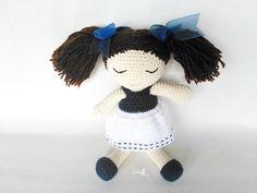 Amigurumi crochet muñeca,Muñeca dormilona.muñeca tejida.muñeca amigurumi.bonita muñeca