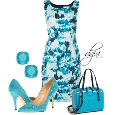 """Kate Spade clutch and shoes"" by dgia on Polyvore"