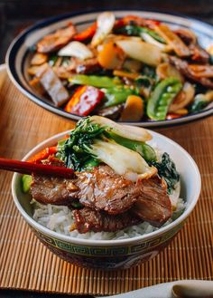 Roast Pork with Chinese Vegetables, (best way to use up those leftover bbq pork- Char Chu) Chinese Vegetables, Mixed Vegetables, Roast Pork Vegetables, Veggies, Pork Recipes, Asian Recipes, Cooking Recipes, Recipies, Bbq Pork