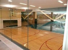 Indoor racquetball/basketball court #racquetball #learnlife #fugu