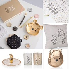 These Winnie the Pooh office accessories are just so cute! via Disney Home I Disney Decorating I Disney Office I Disney Bedroom Disney Kids Rooms, Disney Bedrooms, Disney Merch, Disney Mugs, Casa Disney, Disney House, Disney Disney, Winnie The Pooh Decor, Style Disney
