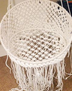 The cutest DIY Hanging Macrame Chair!This fun chair is one of our favorites! Click for tutorial
