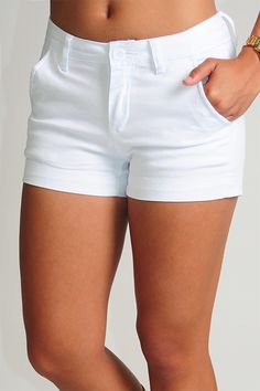 Nice White Shorts - The Else