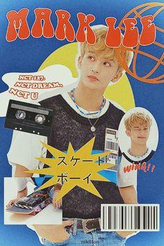 Magazin Covers, Mark Lee, Kpop Posters, K Wallpaper, Graphic Design Posters, Retro Graphic Design, K Idol, Indie Kids, Nct Dream