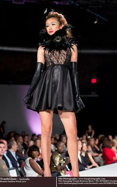 TRASHGLAM  couture sheer Lace OPEN BACK & satin by HausofTrashglam, $349.99