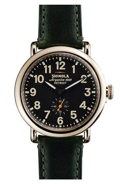 Shinola 'The Runwell' Leather Strap Watch, 41mm available at #Nordstrom