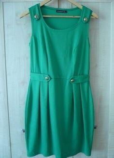 Kup mój przedmiot na #vintedpl http://www.vinted.pl/damska-odziez/krotkie-sukienki/13941078-ciemno-zielona-sukienka-z-atmosphere