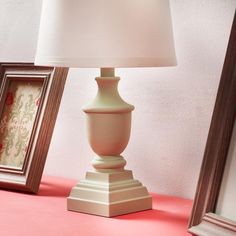 Transform the look of a simple desk lamp using Waverly Inspirations Chalk…