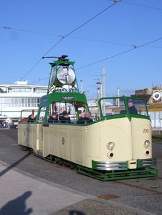 https://flic.kr/p/e85MD8 | Blackpool Tramway 230 George Formby OBE at Pleasure Beach (01/04/2013) | Having completed it's journey from Fleetwood, Blackpool Tramway 'Boat' 230 George Formby OBE rests at Pleasure Beach, before embarking on it's last journey of the day to Bispham. 01/04/2013