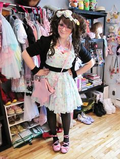 Cute Fairy Kei style. Via Tumblr