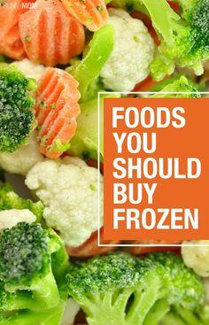 10 foods to buy frozen!