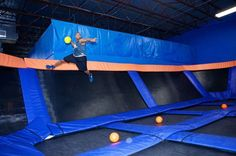 Sky Zone. This would be so much fun! hope there is one near me.