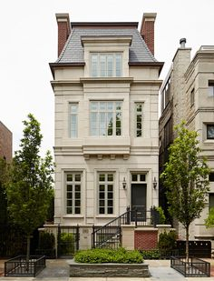 Burns and Beyerl Architects - home exteriors - mansard roof, french roof, french home, french home exterior, Stunning French home exterior accented