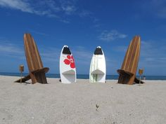 Bombwatcher FoldtoFlat Surfboard Styled Chairs by surflifedesigns, $750.00