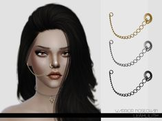 The Sims Resource: LeahLillith Warrior Nosechain by Leah Lilith • Sims 4 Downloads