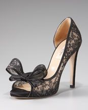 A pair of Lace Shoes like these Valentino Couture Lace Platform Pump @ Neiman Marcus...