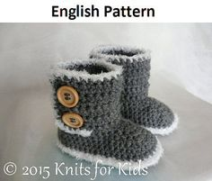 Engels + Nederlands Haakpatroon Baby Ugg Style Boots 6 - 24 mnd/ English patterns US Terms Ugg Style Boots, Ugg Boots Cheap, Baby Uggs, Baby Boots, Baby Patterns, Knitting Patterns, Crochet Patterns, Knitting For Kids, Baby Knitting