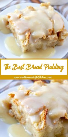 When it comes to easy recipes this Bread Pudding couldn't get any simpler. Filled with cinnamon and nutmeg this makes the perfect breakfast or dessert recipe. # Easy Recipes baking The Best Bread Pudding Recipe Pudding Desserts, Köstliche Desserts, Pudding Recipes, Best Dessert Recipes, Delicious Desserts, Cake Recipes, Pudding Cake, Bread Recipes, Plated Desserts