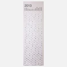 2013 Bubble Wrap Calendar, $15, now featured on Fab. Celebrate each day by popping a bubble on your bubble wrap calendar.