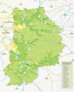 carte des Espaces Naturels Sensibles (ENS) de Seine-et-Marne