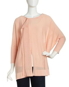 Ahigta Dolman-Sleeve Draped Sweater, Pale Peach - Last Call by Neiman Marcus