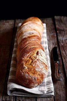 Pain Torsadé (twisted bread without kneading) Bread Bun, Pan Bread, Bread Baking, Ricotta, Rustic Bread, Country Bread, Bread And Pastries, Fresh Bread, Artisan Bread