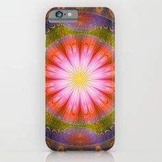 Groovy radiate mandala with tribal patterns iPhone & iPod Case