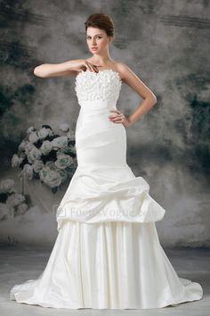 US $372.00 | Satin kæreste feje tog kappe broderede brudekjole