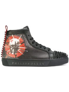 aae1ea9b5aaef Philipp Plein studded skull feature hi-tops