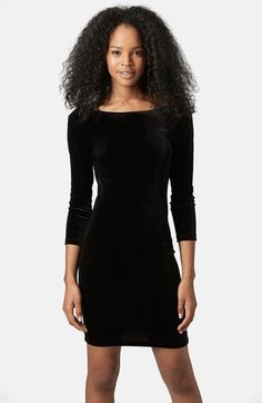 Free shipping and returns on Topshop Velvet Body-Con Dress at Nordstrom.com. Rich velvet is shaped into a body-con LBD styled with a bateau front neckline and three-quarter sleeves.