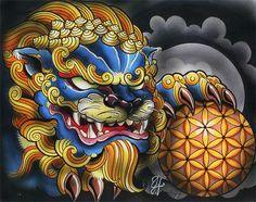Art Foo Dog More Japanese Tattoo Designs, Japanese Tattoo Art, Japanese Sleeve Tattoos, Lion Tattoo, Dog Tattoos, Arm Tattoo, Tattoo Animal, Foo Dog Tattoo Design, Japanese Foo Dog