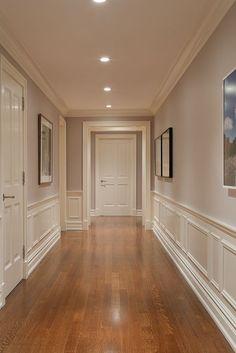 hallway decorating 349662358571641799 - Ideas For Wood Paneling Hallway Wainscoting Source by martinamcgarvey Home Room Design, Home Interior Design, Living Room Designs, House Design, Interior Trim, Custom Home Builders, Custom Homes, Hallway Decorating, Interior Decorating