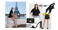 28 juin 2019 - As spokewoman for Kerastase, Canadian singer Marie-Mai traveled to Paris for a photo shoot. She looked incredible in her total black look! Here's our version of her amazing outfit! Total Black, Celebrity Look, High Waisted Shorts, Chic Outfits, Photo Shoot, Going Out, Streetwear, Ootd, The Incredibles