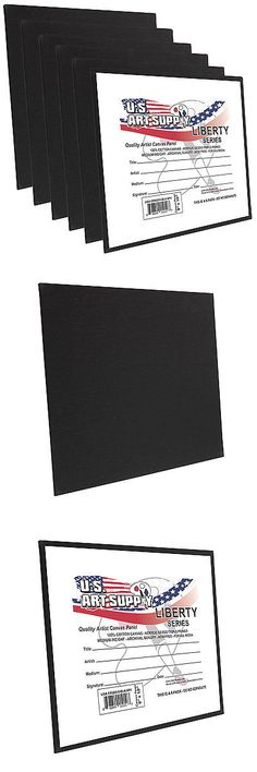12 X 16 inch Black Professional Artist Quality Acid Free Canvas Panels 6-Pack