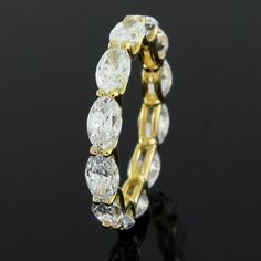 Beautiful 6.00ct VVS1 Oval Cut Diamond Wedding Eternity Band Ring  #Affinityjewelry #EternityBand